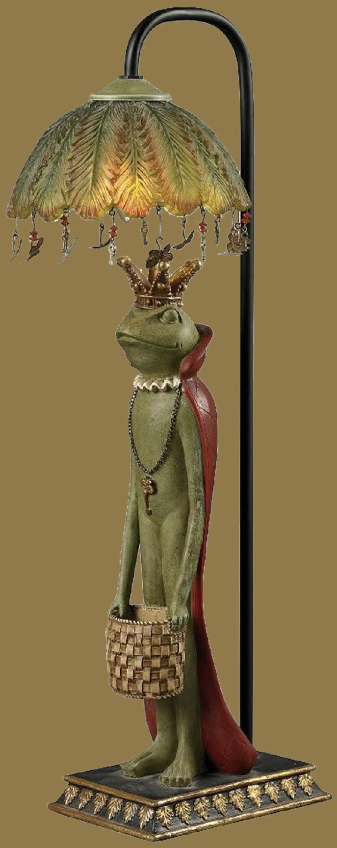King Frog with Basket Lamp