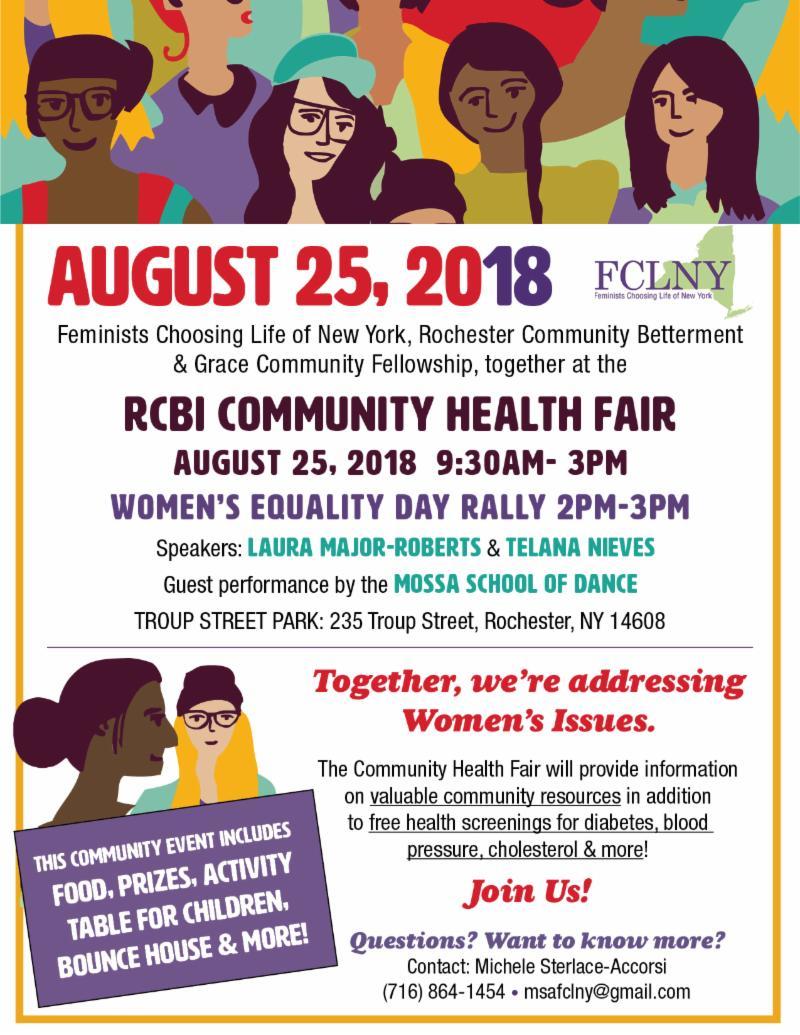 August 25 2018 Health Fair and Rally