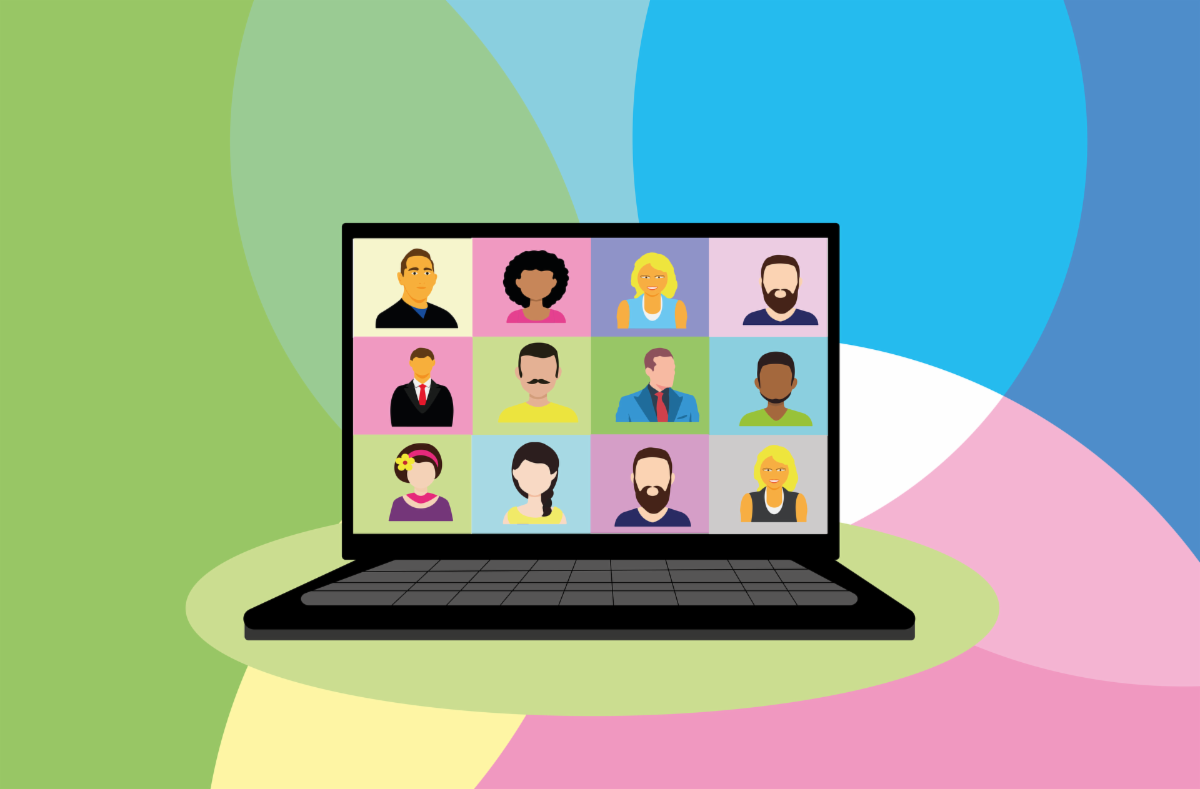 Illustration of video conference