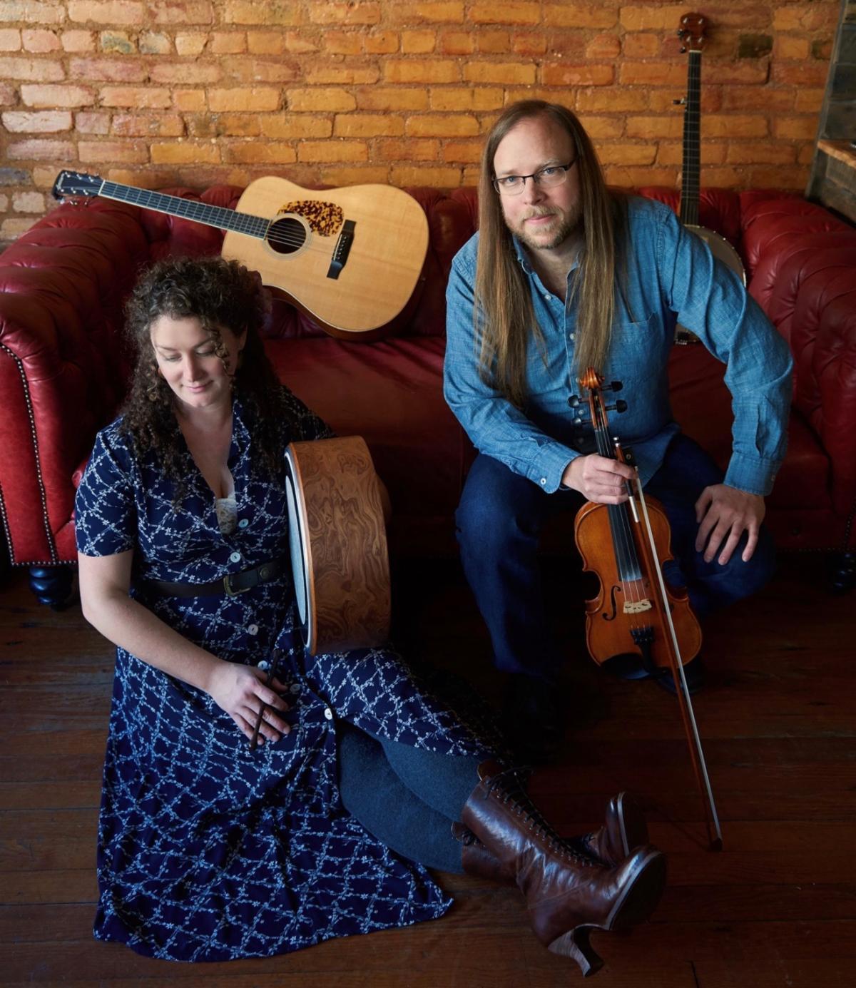 Musicians Tom Eure and Amelia Osborne
