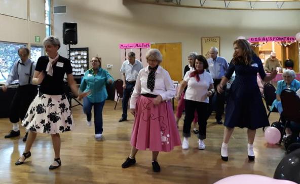 Sock Hop dancers