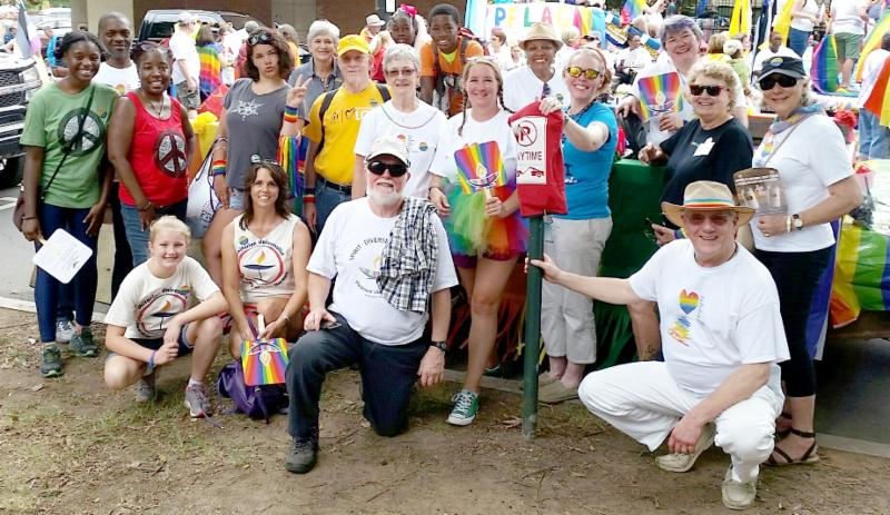 Church group at 2018 Charlotte Pride festival