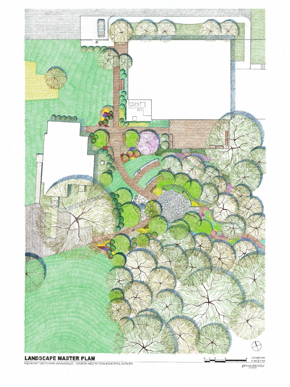 Meditation Memorial Garden Illustration