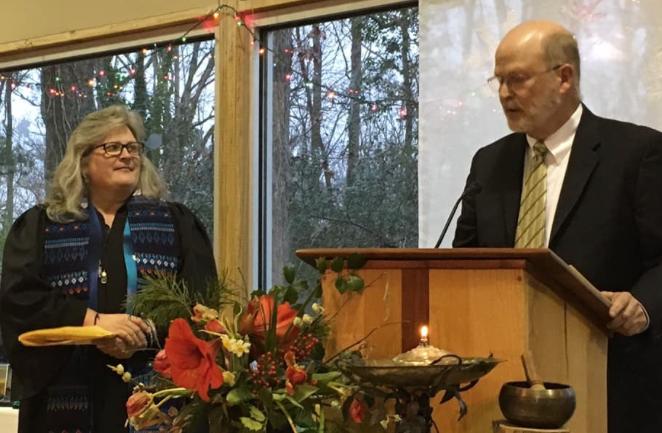 Rev. Mary Frances Comer and Sam Treadaway