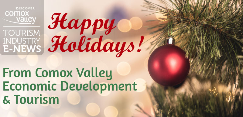 Happy Holidays from Comox Valley Economic Development & Tourism