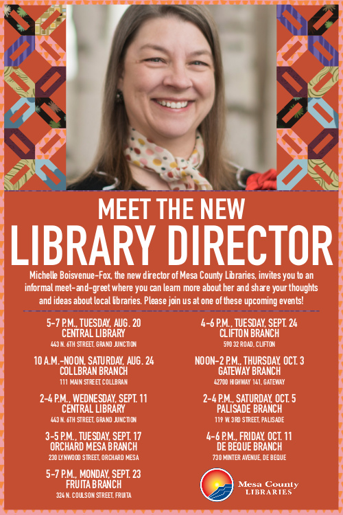 Schedule of new director's meet-and-greets