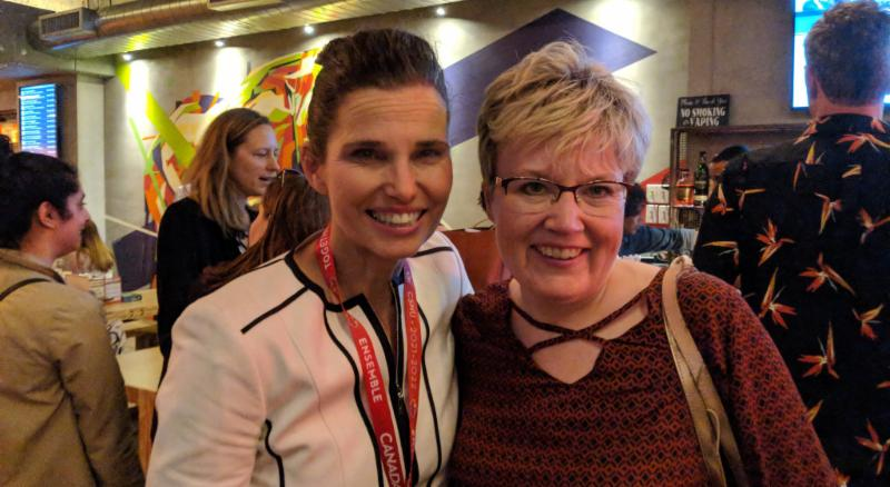 Minister Kirsty Duncan and CACL EVP Krista Carr smile at camera.