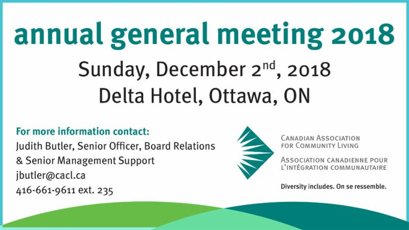 AGM 2018 - Sun Dec 2_ Delta Hotel_ Ottawa. Contact Judith for more information at jbutler_cacl.ca or 416-661-9611 ext. 235