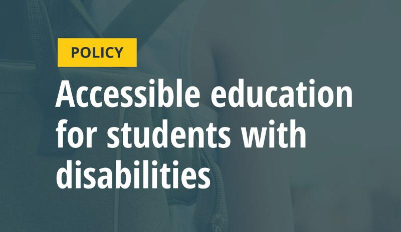 Policy_ Accessible Education for Students with Disabilities