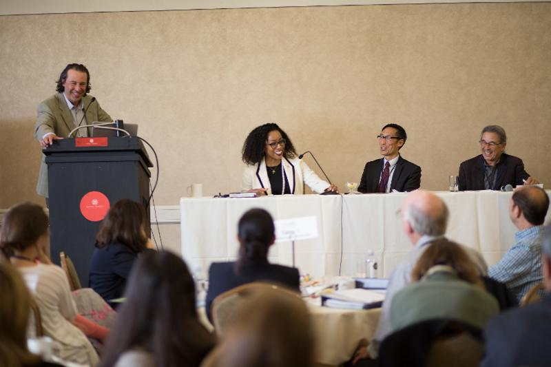 Candid shot from the policy panel moderated by Dr. Dean Schillinger, Professor, UCSF School of Medicine.