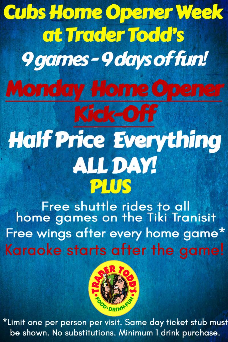 Opening Day Specials Events Deals