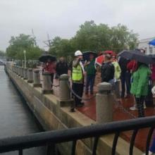 MHT and other state agencies tour the U.S. Naval Academy to view flood protective measures