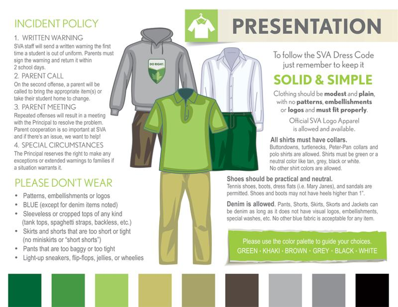 SVA Uniform Dress Visual Reference Guide