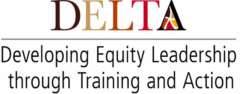 DELTA logo - Developing Equity Leadership through training and action
