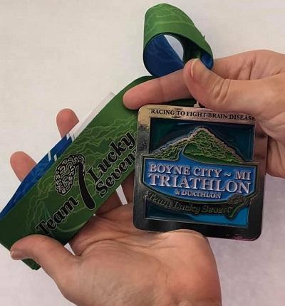 Triathlon bling