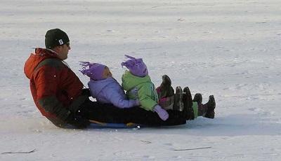 Avalanche sledding