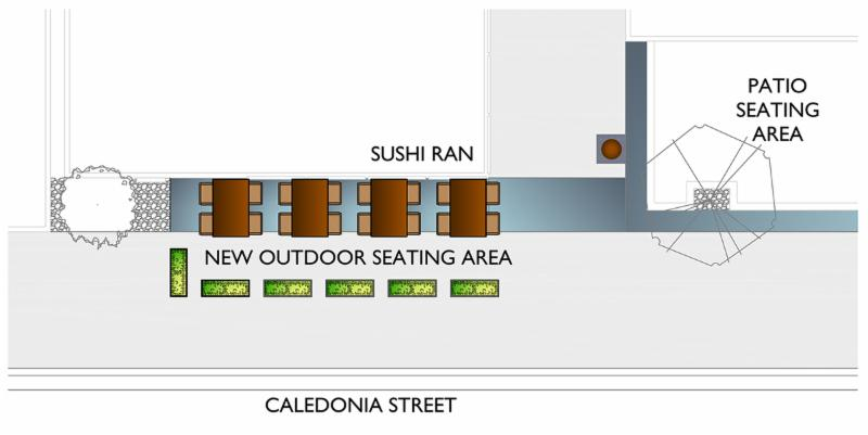 outdoor seating drawing