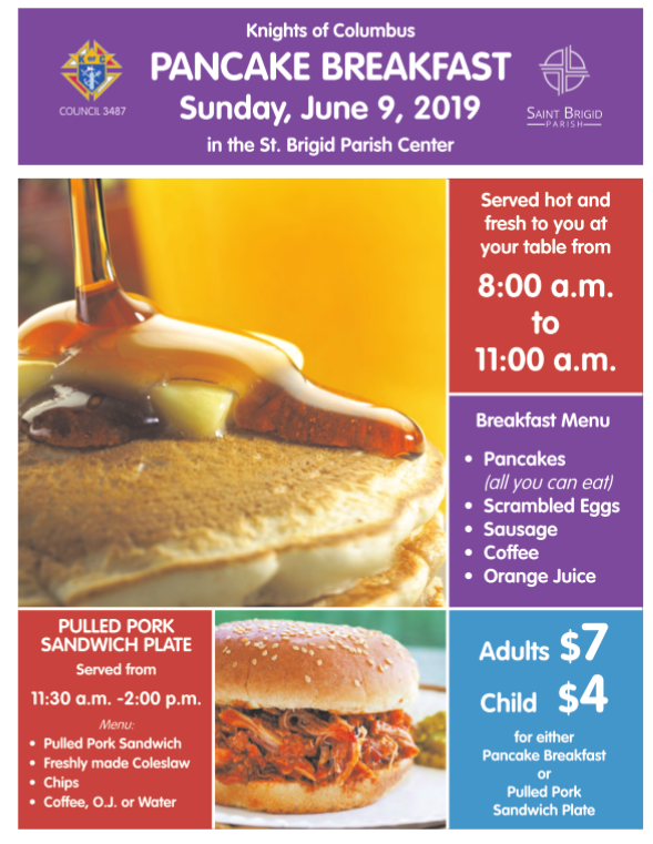 Pancake Breakfast June 9 2019