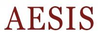 AESIS logo in maroon