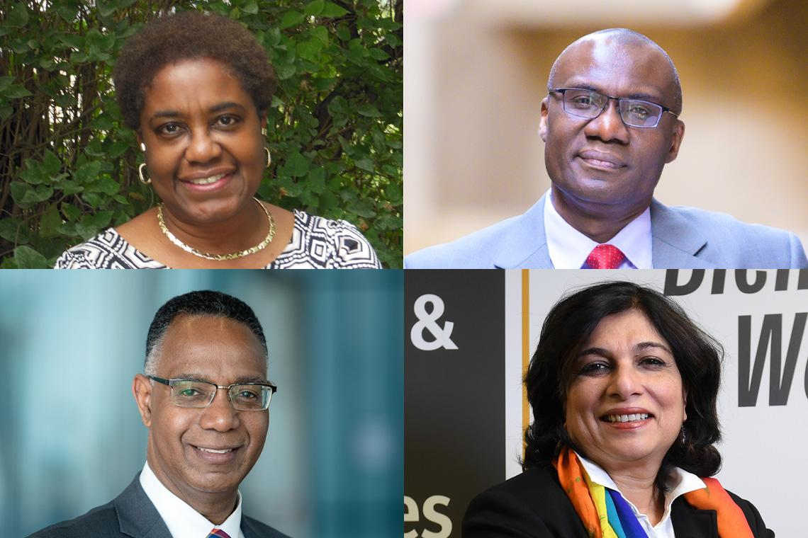 Four photos of the leaders of the anti-racism group
