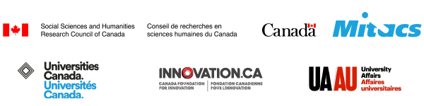 Logos of our sponsors: SSHRC, Mitacs, Universities Canada, Canadian Foundation for Innovation, and University Affairs.