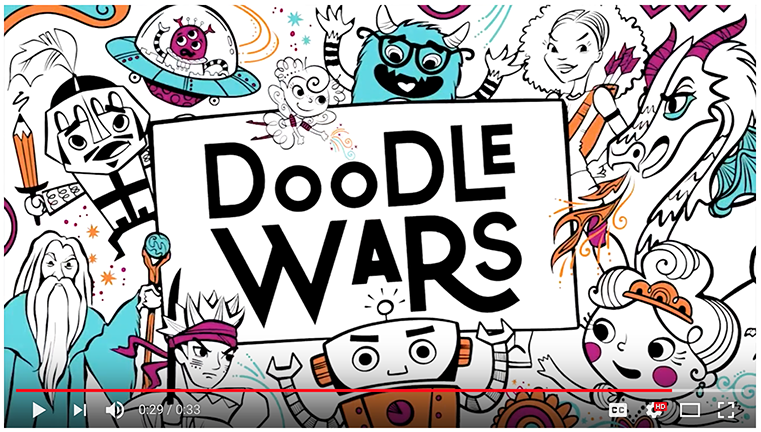 I'm A Contestant On A TV Show - Doodle Wars!