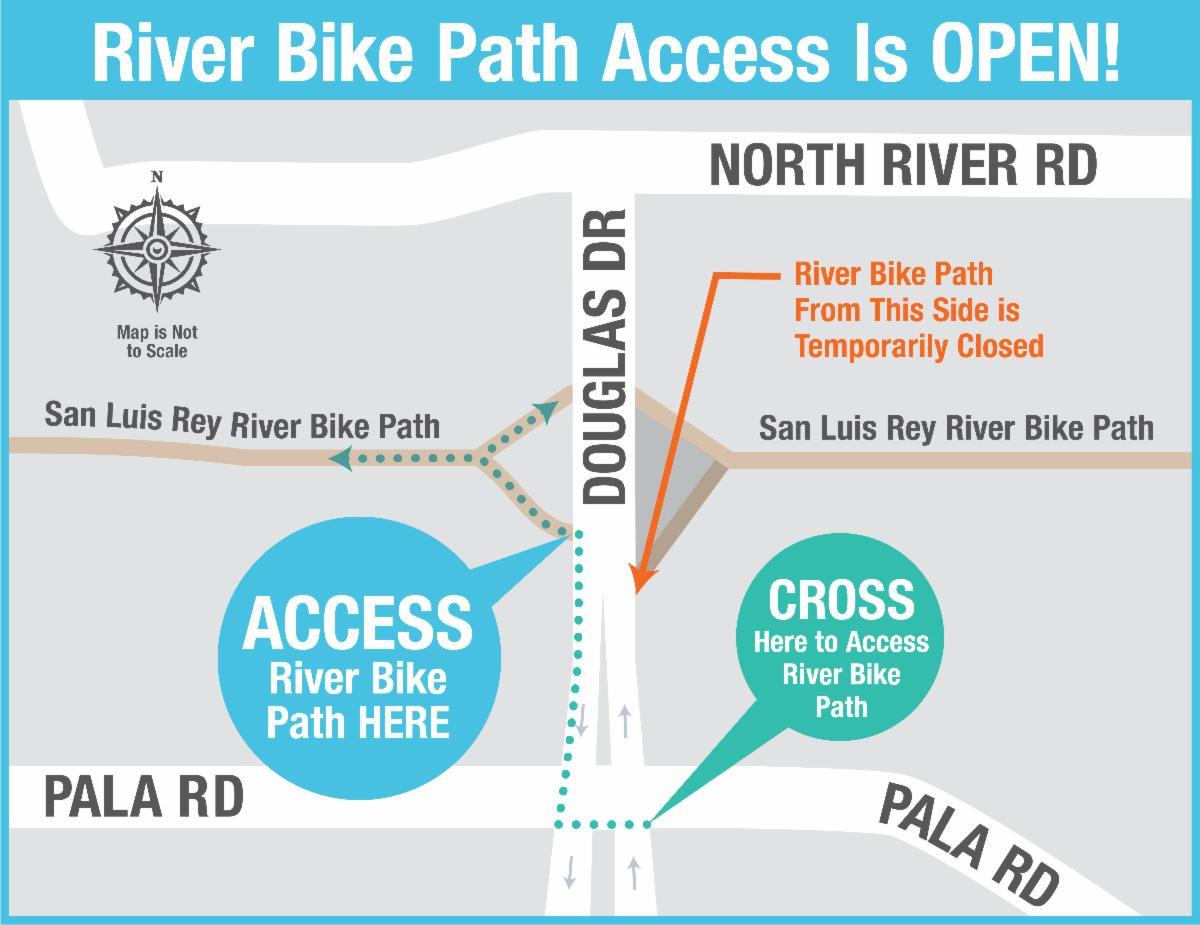 River Bike Trail Detour Map