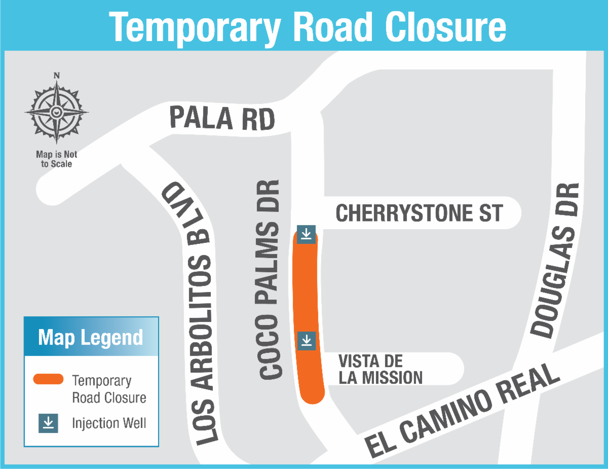 Coco Palms Drive - Section Closed