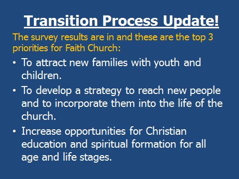 Transition Survey