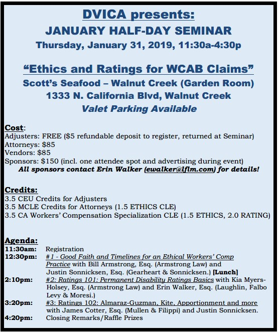 Diablo Valley Industrial Claims Association - January Half