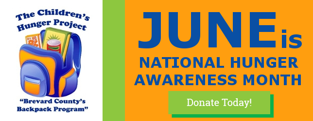 JUNE IS HUNGER AWARENESS MONTH
