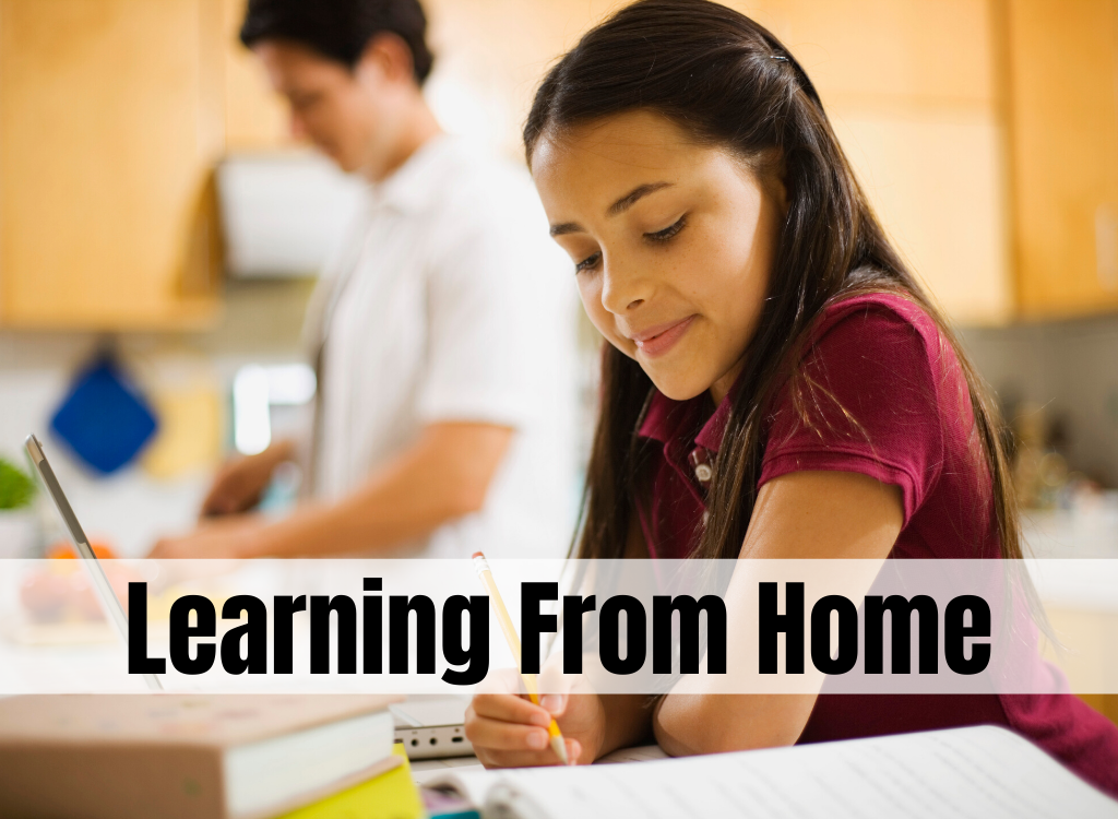 link to parent resources page for learning from home