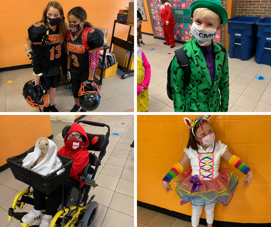 Denver students dressed in their Halloween costumes during Red Ribbon Week to say BOO to drugs