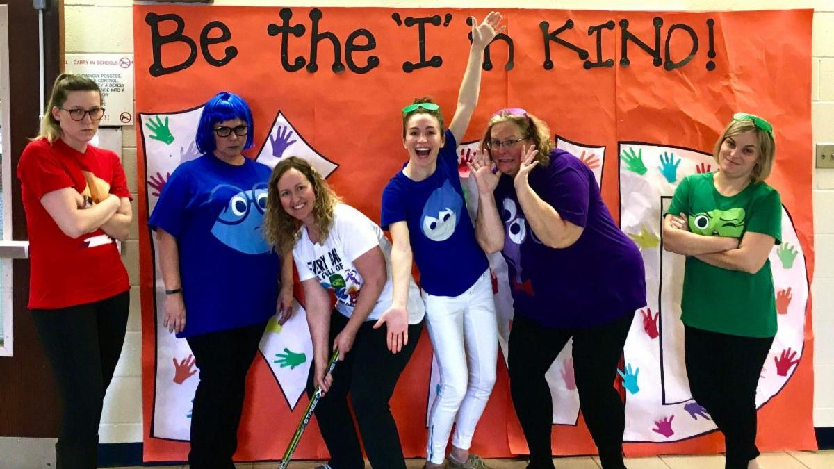 Holmes staff and their SEL skit
