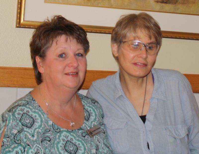 Suzanne (Left) with client Kathrine