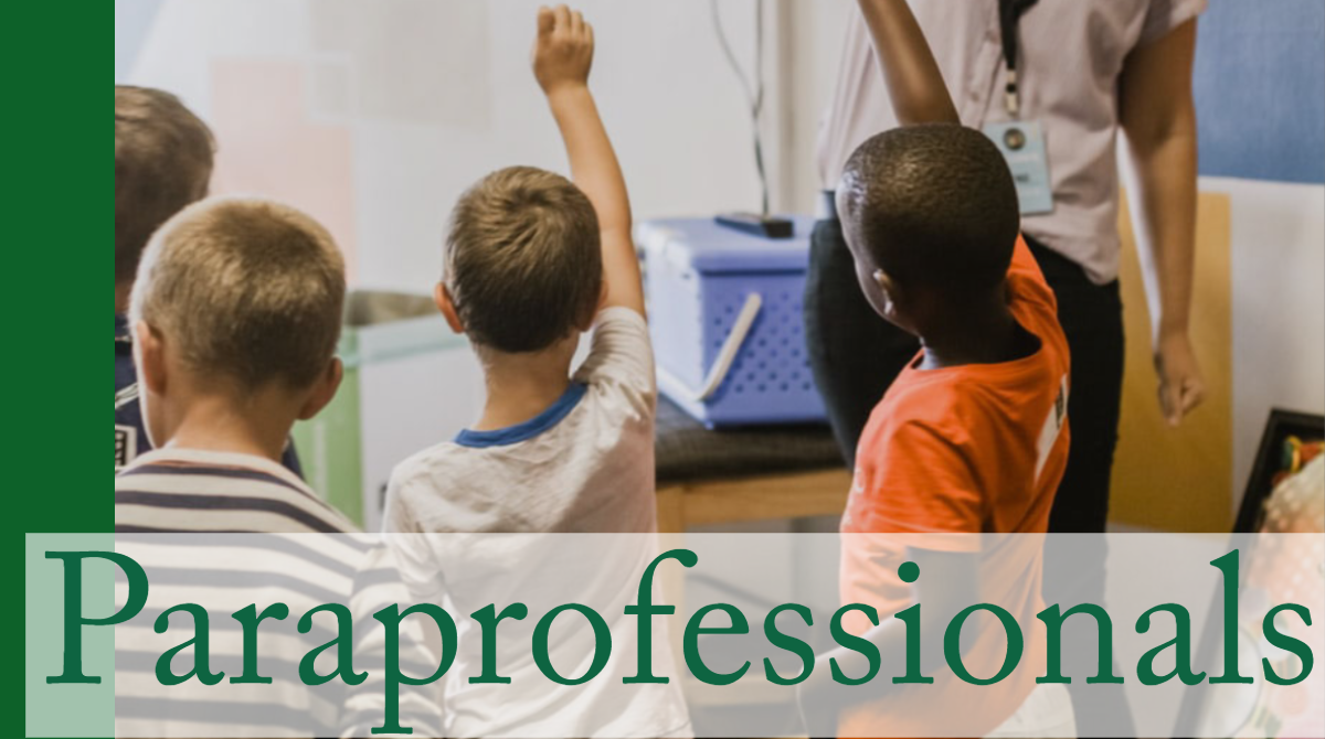 Paraprofessionals (Kids raising hands)