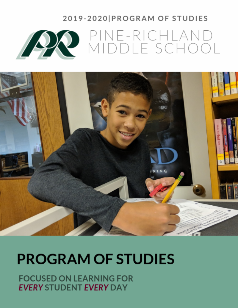 Program of Studies Cover