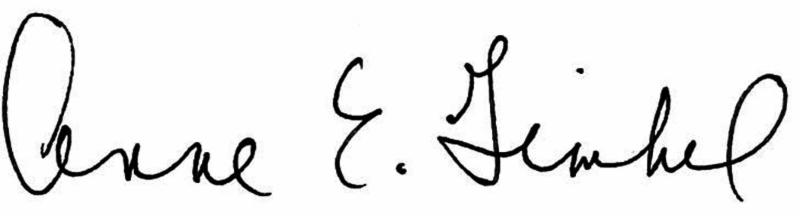 Anne E. Gimbel Signature