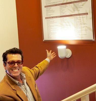 Michael at Donor Wall