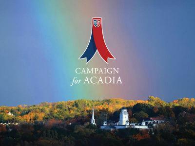 Rainbow photo Acadia University Campaign