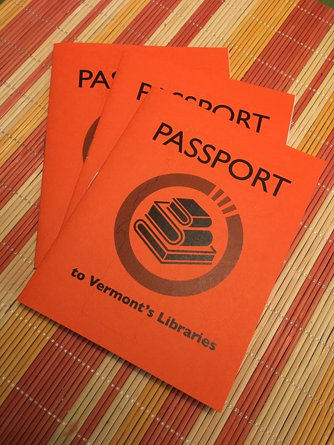 Image of three Vermont library passports