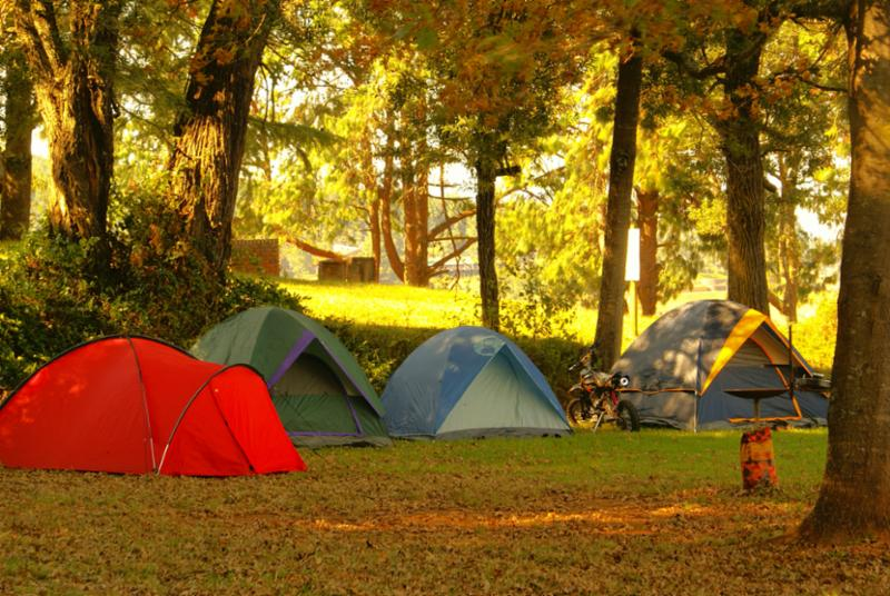 Stock photo of tents outside