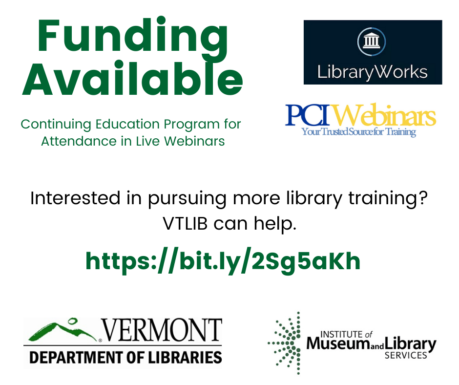 Graphic describing funding available for live webinars.