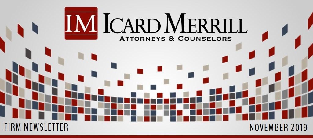 Icard Merrill newsletter November 2019