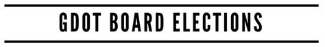 GDOT Board Elections