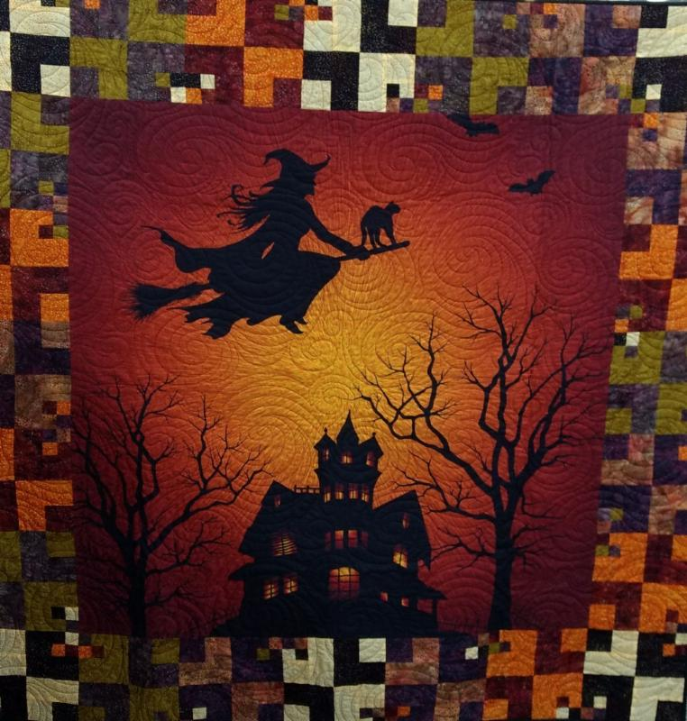 Witch Quilt using Citrine Panel and Soda Pop Pattern