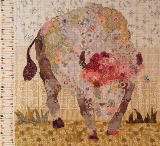 White Buffalo Collage Pattern