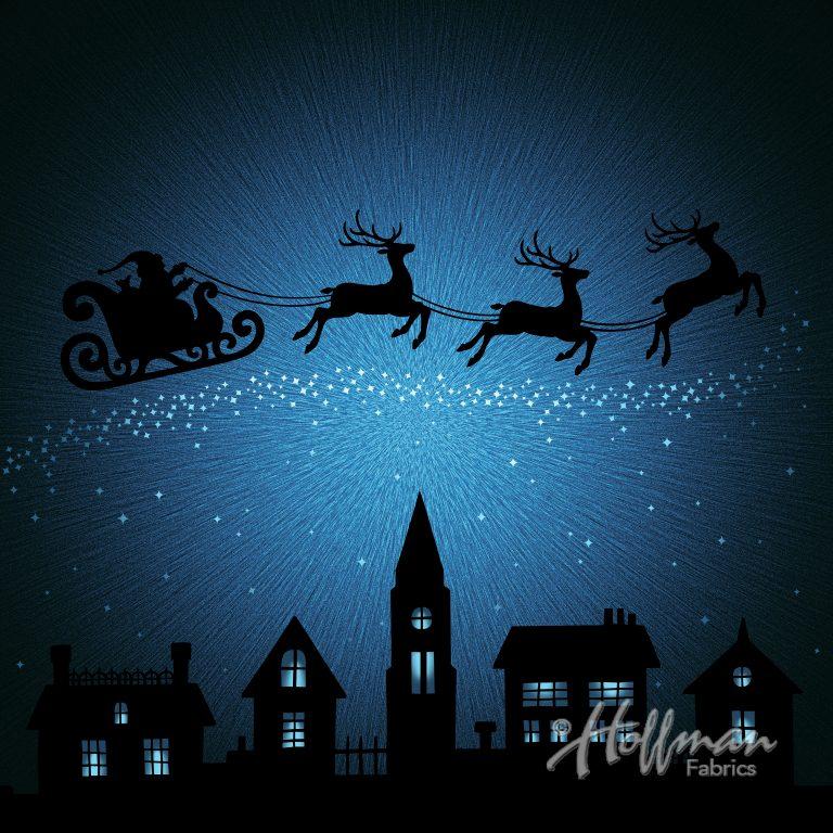 Santa Sleigh Ride Panel