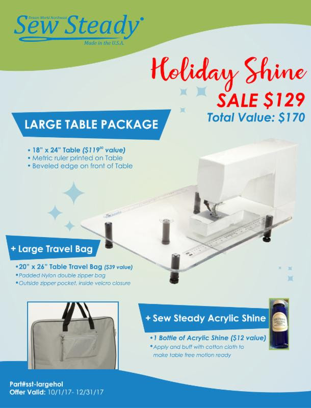 Large Table Package from Sew Steady