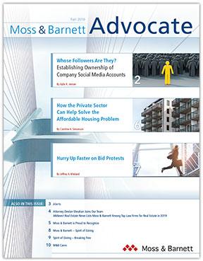 Moss & Barnett Advocate Fall 2019